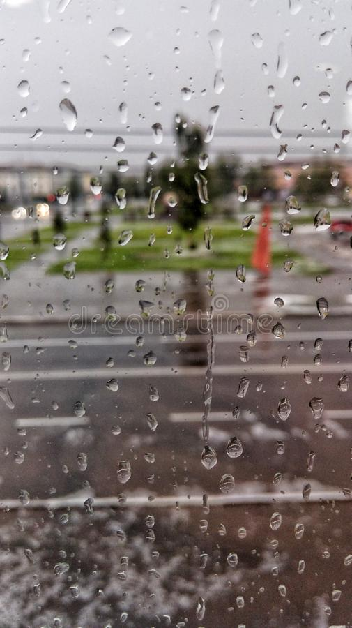 Rain and sity royalty free stock images