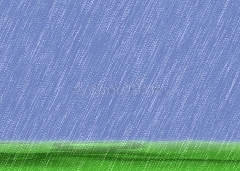 Rain storm backgrounds in cloudy weather with green grass. Rain storm backgrounds in cloudy weather with a green grass royalty free stock photos