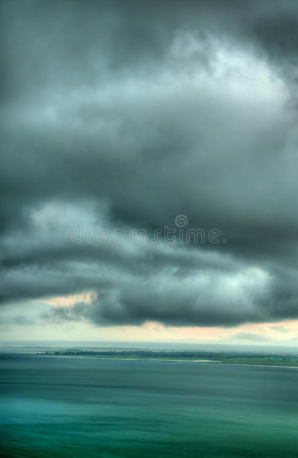 Free Rain Storm Cloud Over The Lake (HDR) Royalty Free Stock Photography - 21004857