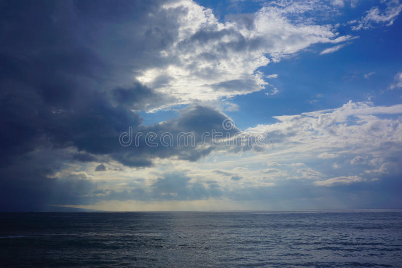 Storm Clouds Over Ocean royalty free stock images