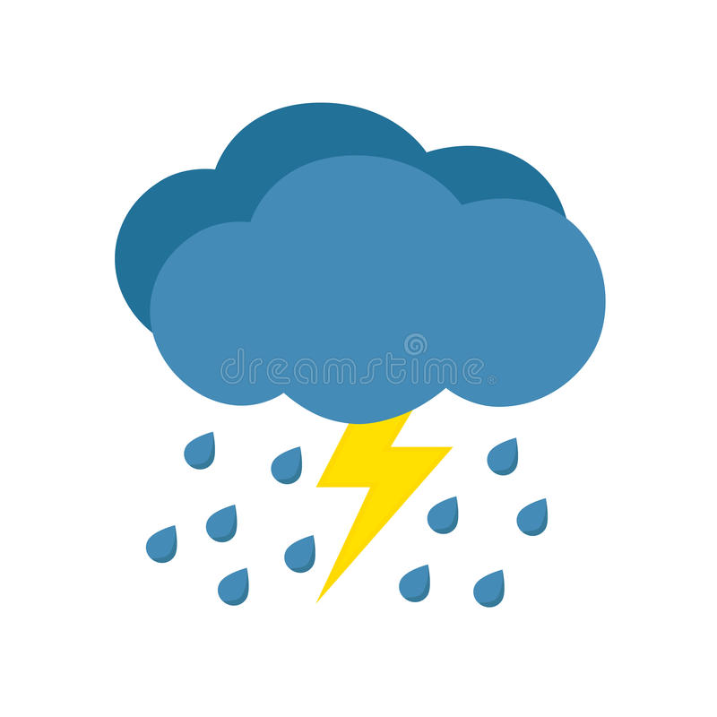 Rain with storm royalty free stock photos