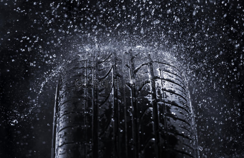 Download Rain Tire stock photo. Image of liquid, rainy, grooves - 24409956