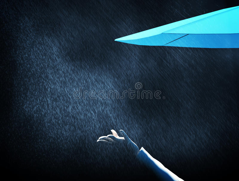 Rain umbrella royalty free illustration