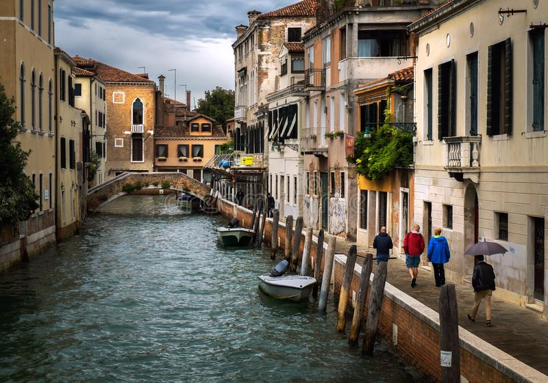 The rain in Venice. Italy. stock image