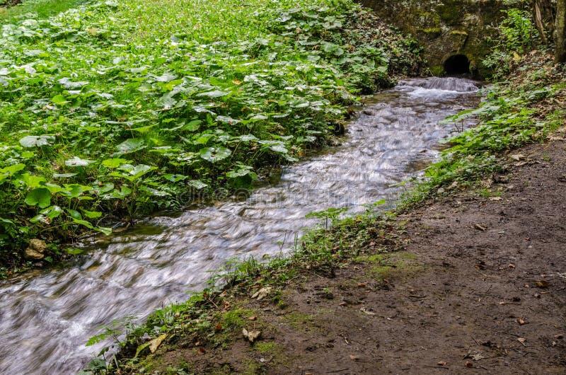 Rain water drainage stock image
