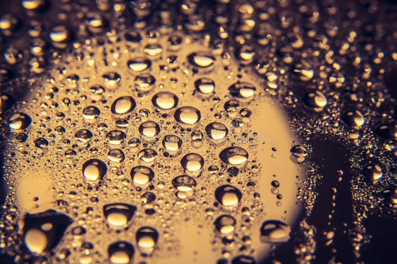 Rain water drops. And with abstract blur background.vintage royalty free stock photos