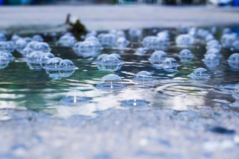 Rain water drops. And with abstract blur background.vintage stock images