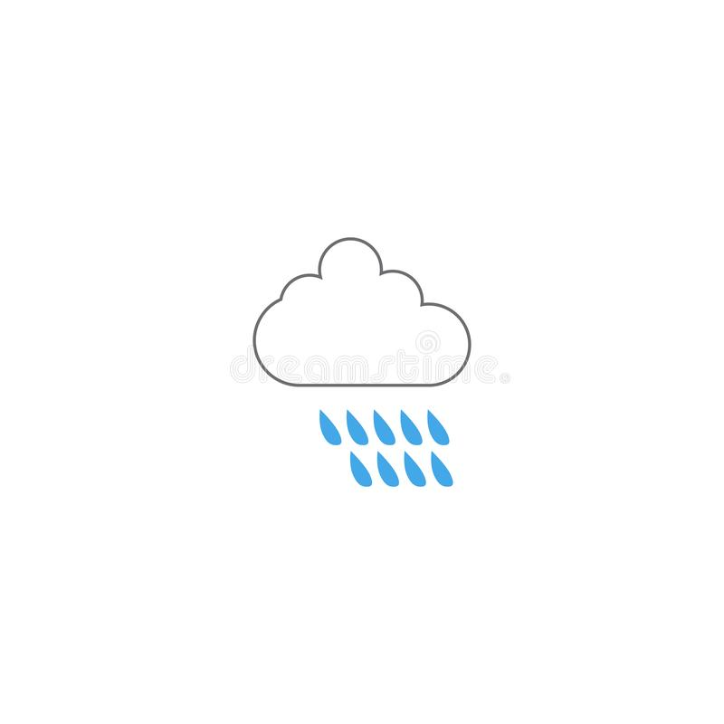 Rain weather icon design template vector isolated vector illustration