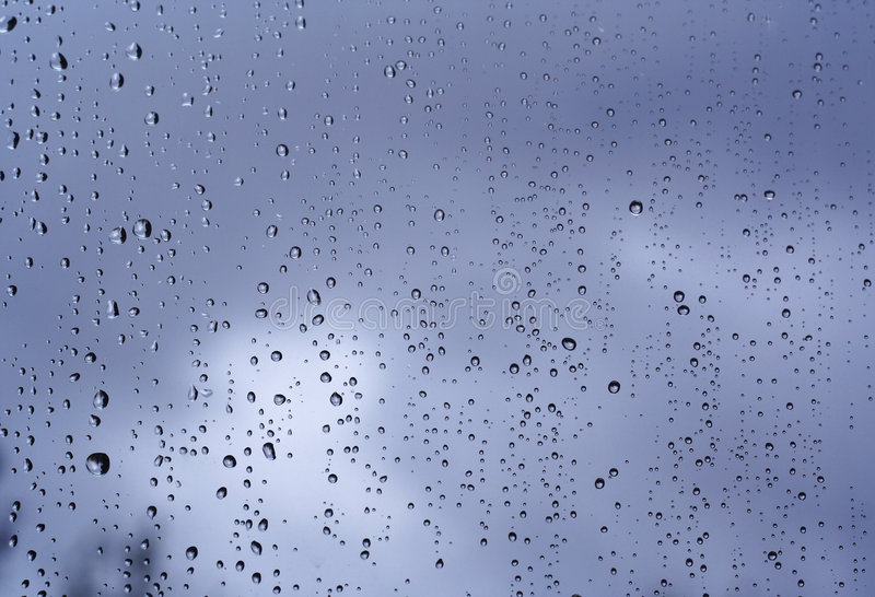 Download Rain on the window stock image. Image of storm, pouring - 1353415