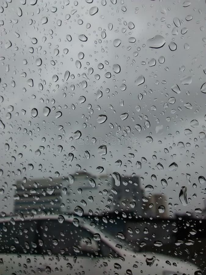Rain on window royalty free stock photo