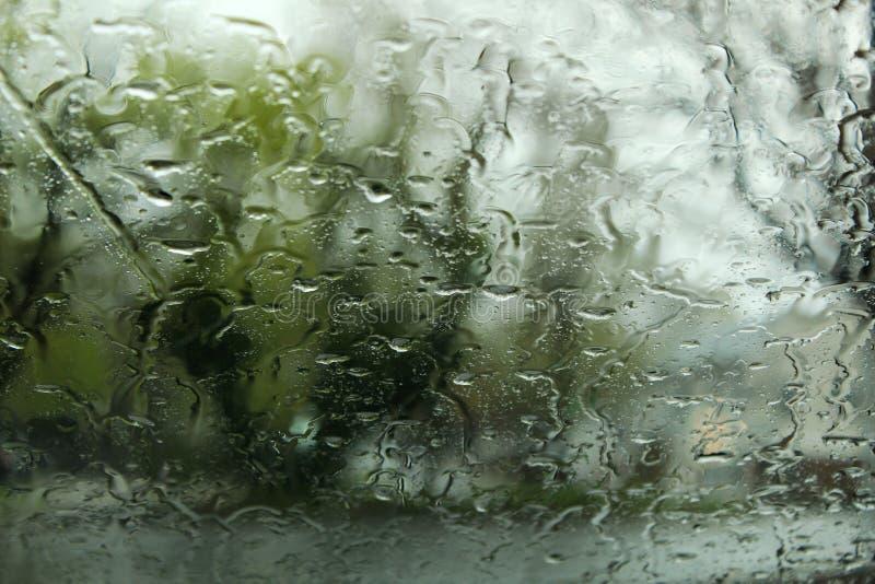 Rain on a window. blurred backround. stock photography