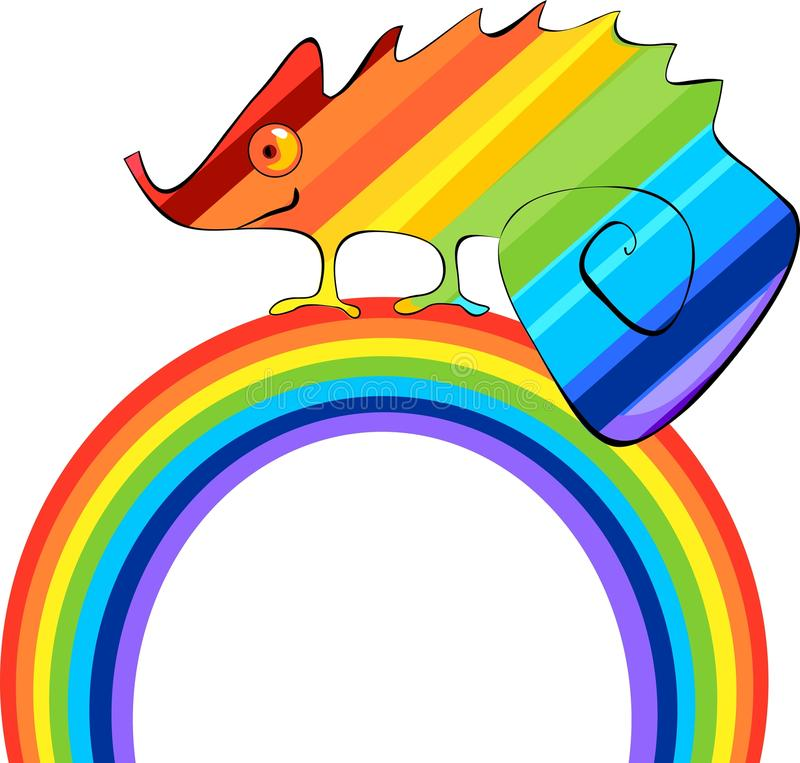 Download Rainbow Сhameleon stock vector. Image of isolated, illustration - 38122365