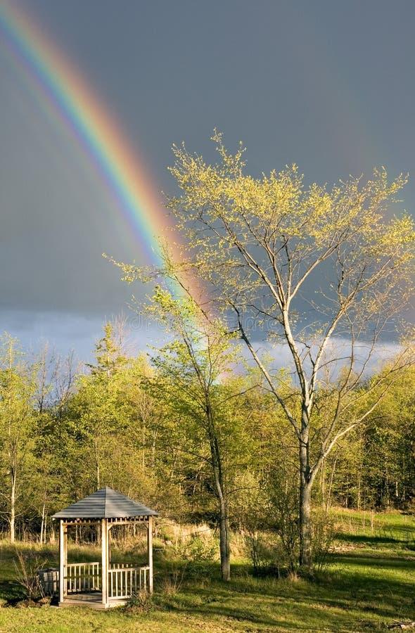Download Rainbow stock photo. Image of springtime, pavillion, rain - 125622