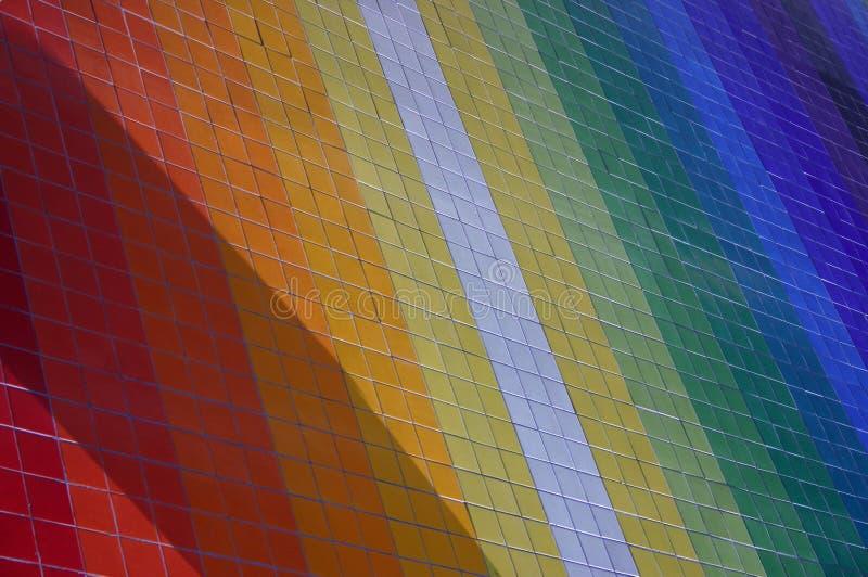 Rainbow. Colorful mosaic wall stock photos