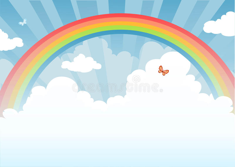 Download Rainbow stock vector. Illustration of magic, multi, beauty - 17758559