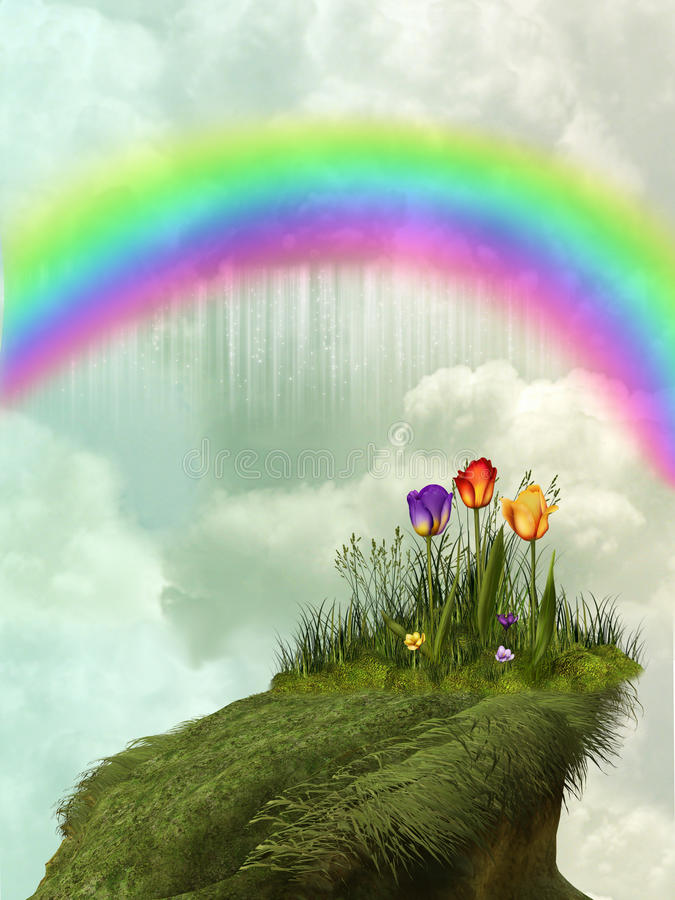 Download Rainbow stock illustration. Image of clouds, exploration - 17759038