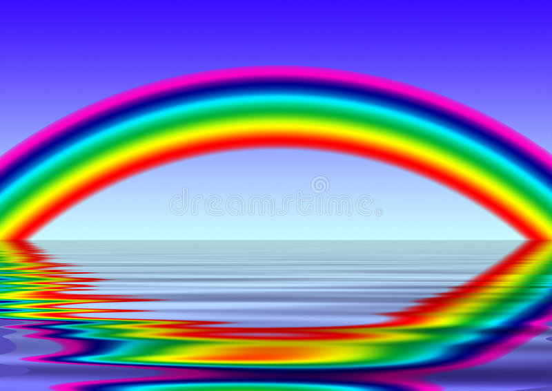 Rainbow royalty free illustration