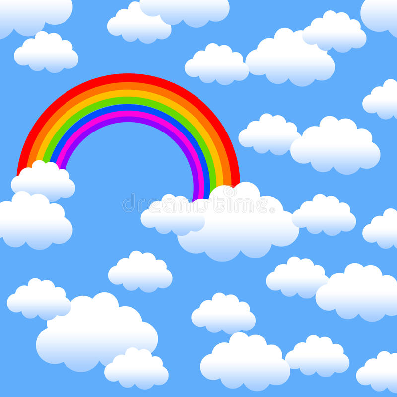 Download Rainbow stock illustration. Image of love, cloud, freedom - 22501974