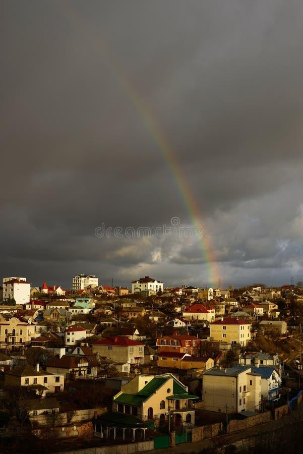Download Rainbow stock image. Image of panorama, phenomena, dark - 28774239