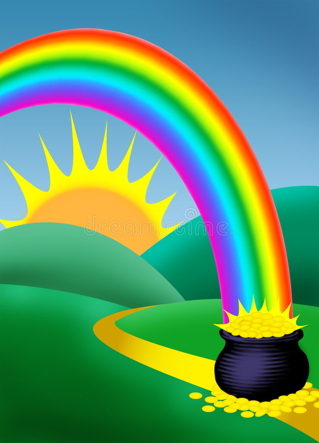 Rainbow royalty free illustration