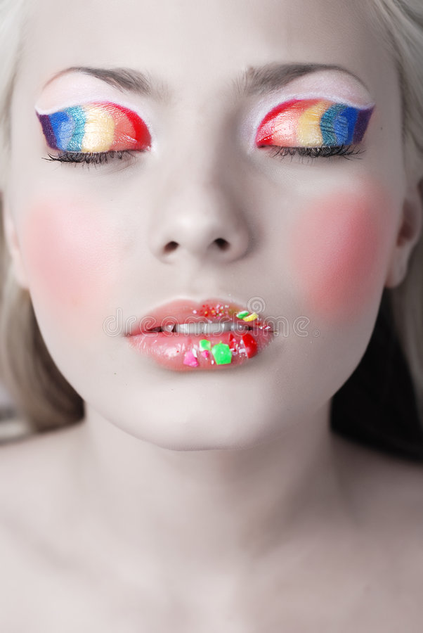 Download Rainbow stock image. Image of costume, make, beautiful - 5521557