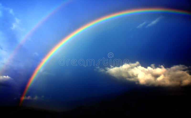 Download Rainbow stock photo. Image of nature, peace, spring, creation - 7145358