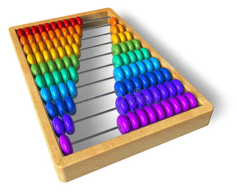 Rainbow abacus. Isolated over white background vector illustration