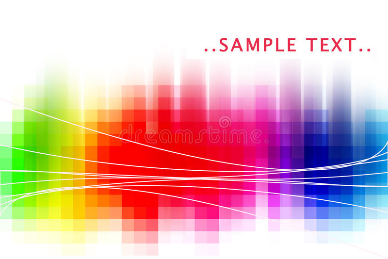 Rainbow abstract stock illustration