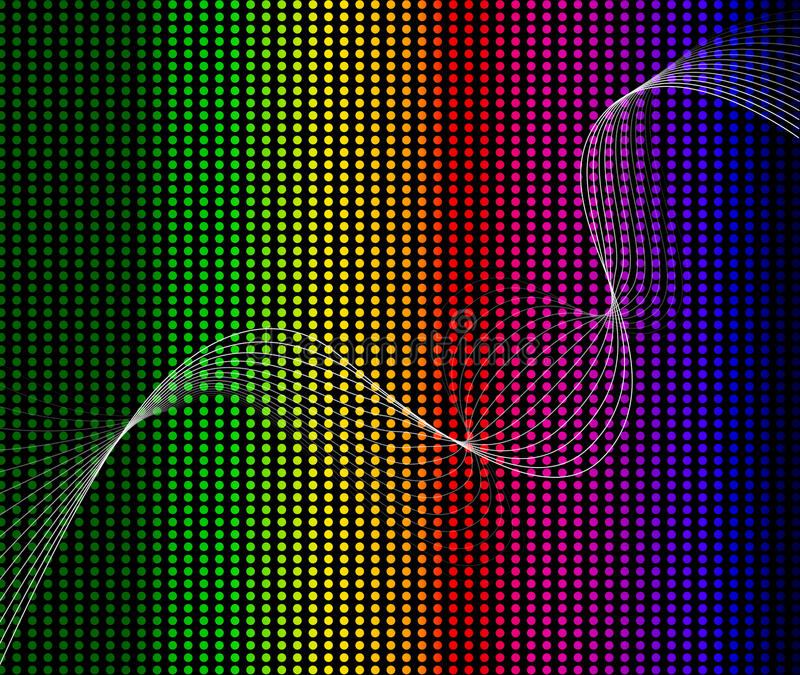 Rainbow abstract background composition. Full illustration stock illustration