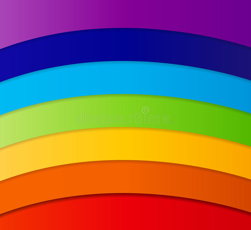 Rainbow Abstract Background Vector Illustration stock illustration