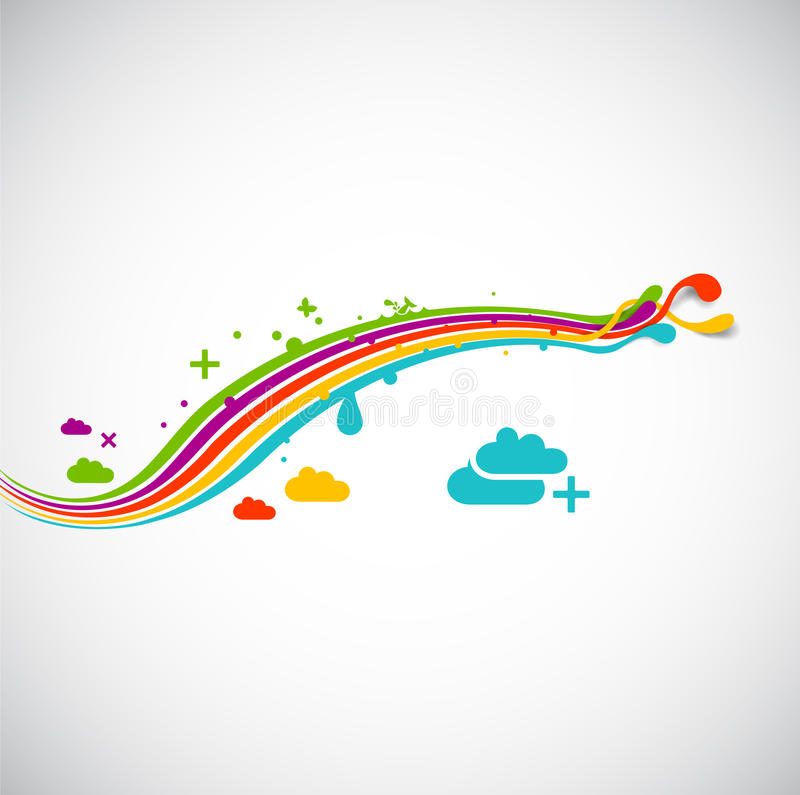 Download Rainbow abstract collage stock illustration. Image of energy - 14852763