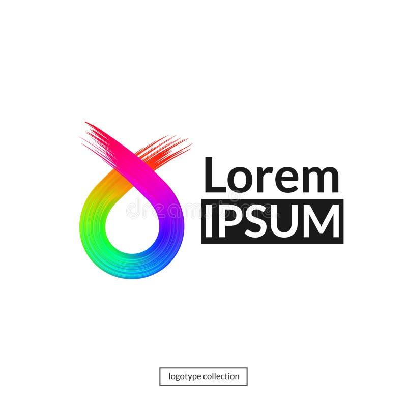 Rainbow abstract logo template. vector illustration