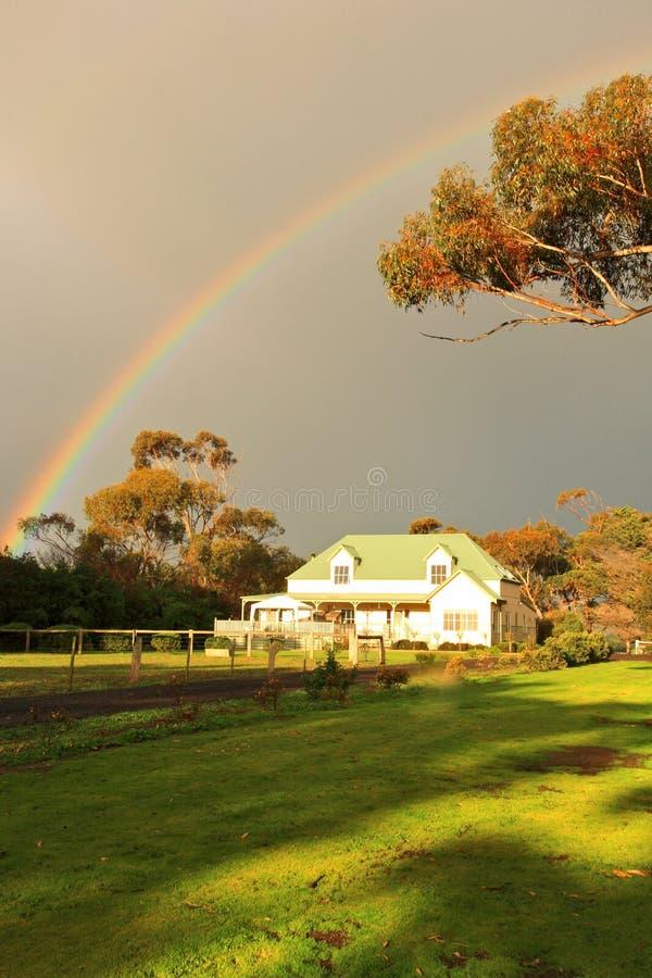 Rainbow&House fotos de archivo