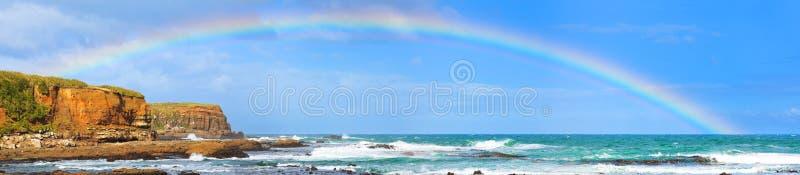 Rainbow ans sea royalty free stock photos
