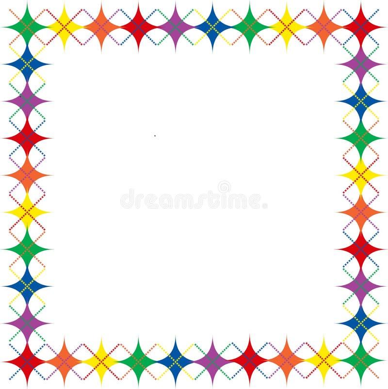 Rainbow Argyle Stars Border Royalty Free Stock Photos