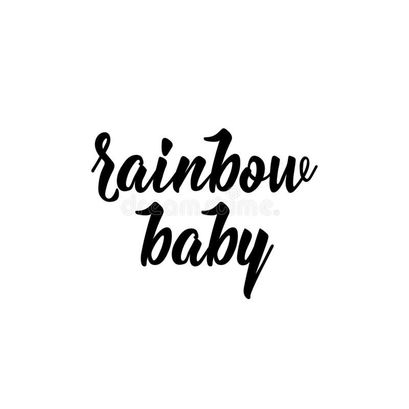 Rainbow baby. Vector illustration. Lettering. Ink illustration stock illustration
