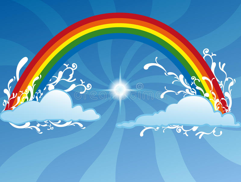 Download Rainbow background stock illustration. Illustration of concept - 13567149