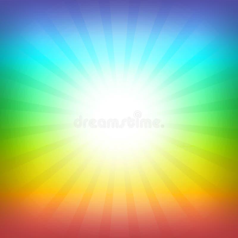 Rainbow background royalty free illustration