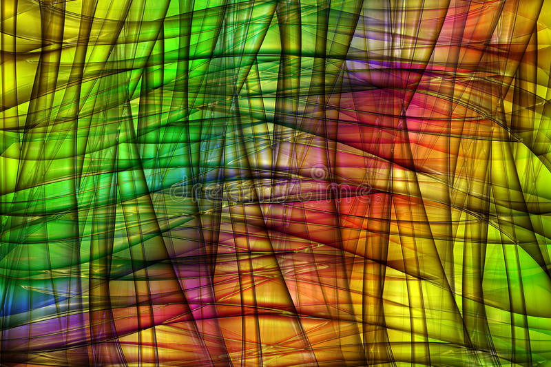 Rainbow background. Abstract rainbow background with waves and grid vector illustration