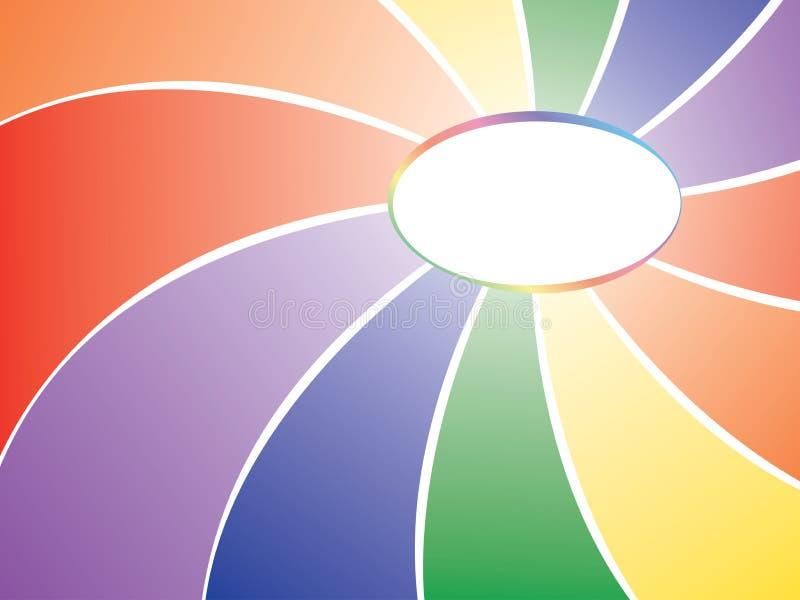 Rainbow Background With Badge Royalty Free Stock Image