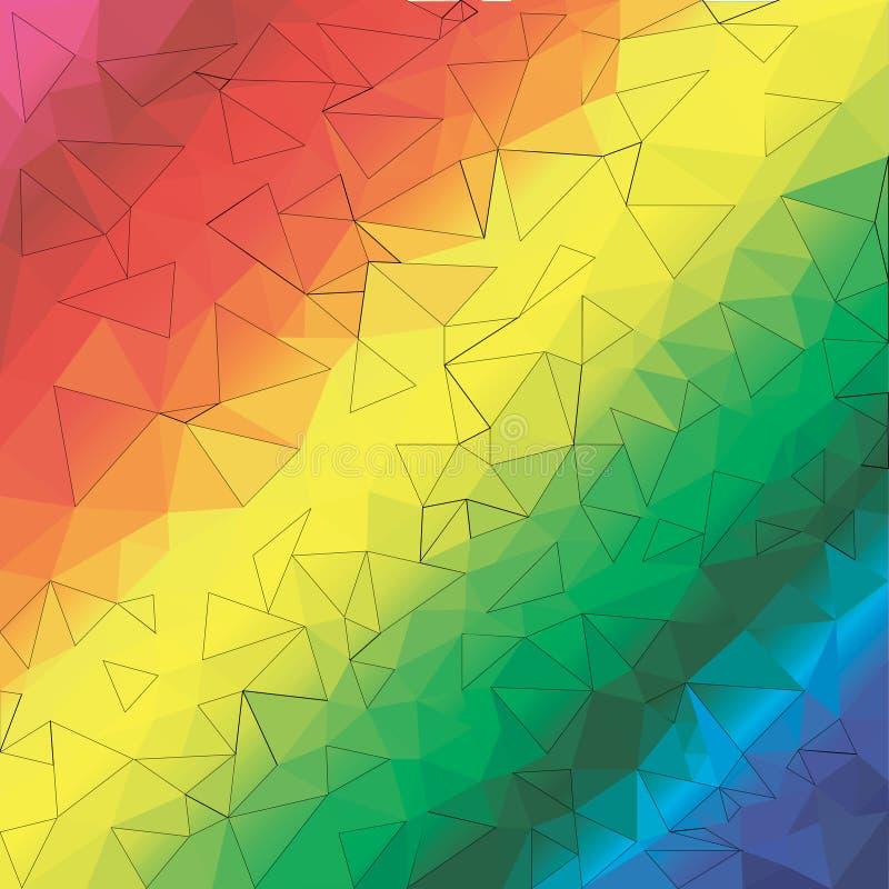 Rainbow background stock image