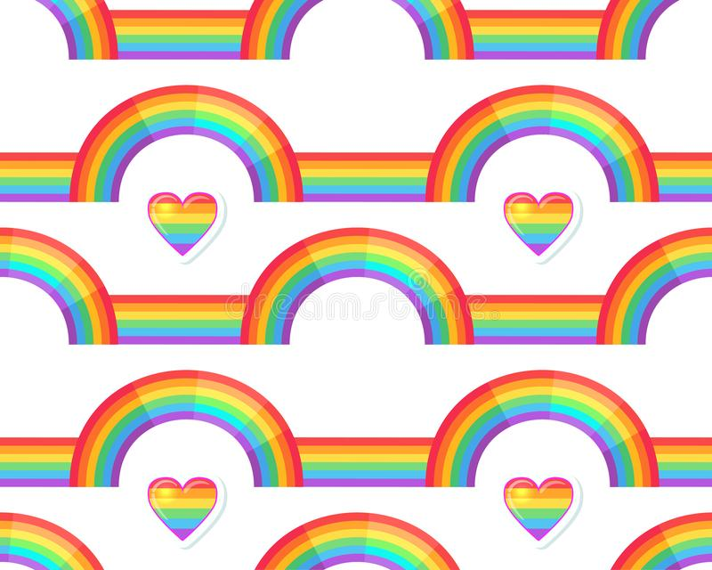 Rainbow background. Retro seamless pattern the 50s and 60s inspired. Seamless abstract Vintage backdrop in sixties style. Vector illustration royalty free illustration