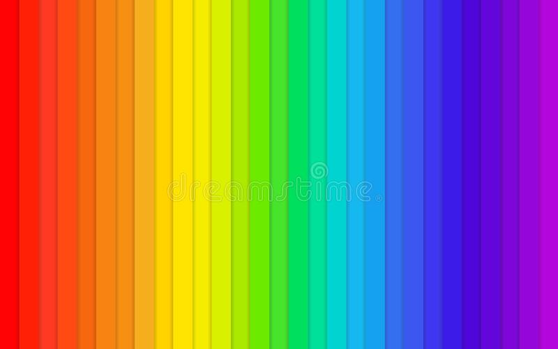 Rainbow background table colors palette royalty free stock photo