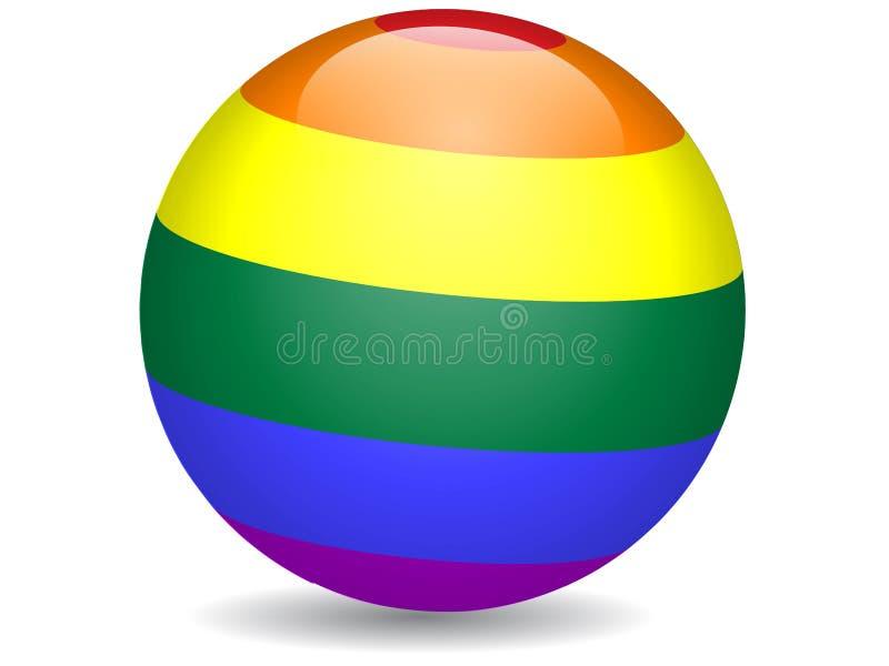 Rainbow ball icon illustration. Rainbow ball icon Vector Illustration vector illustration