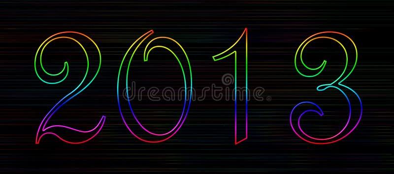 Rainbow banner 2013 stock image