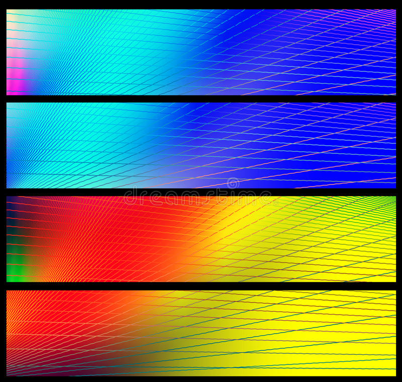 Rainbow banners royalty free stock image