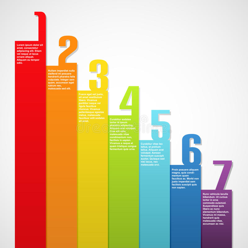 Download Rainbow Banners With Numbers Stock Vector - Image: 24765314