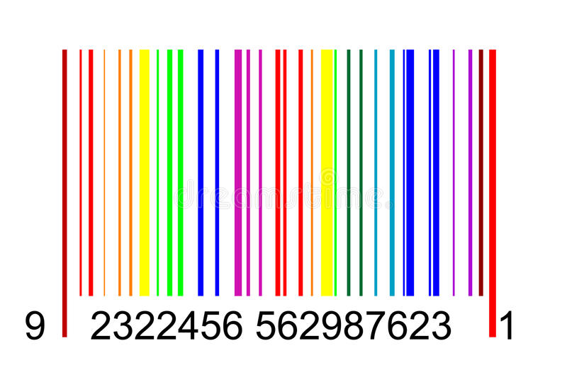 Rainbow Barcode Stock Photos