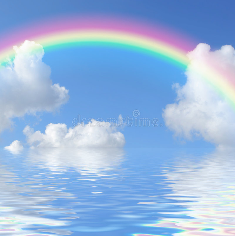 Rainbow Beauty royalty free stock photography