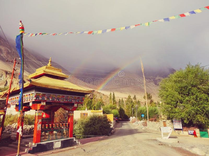 Rainbow Bliss royalty free stock photography